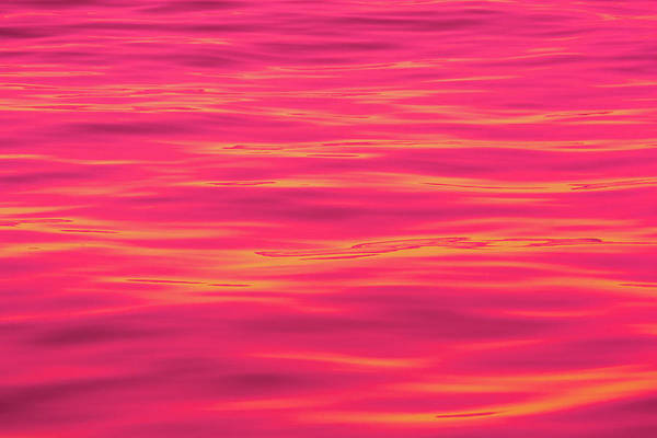 Lava Lakes Photograph - Red Water Abstract 6789 by Brian Knott Photography