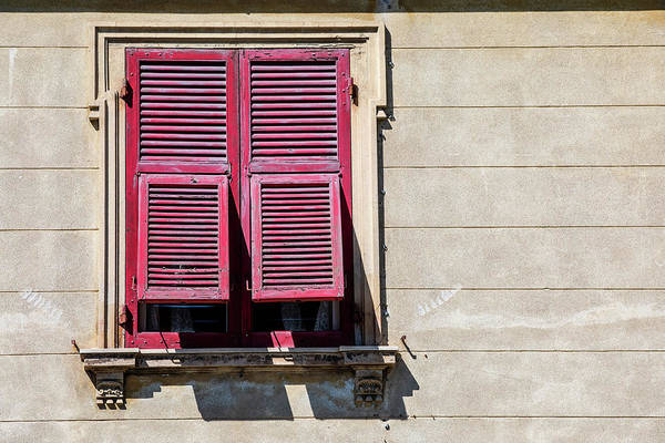 Photograph - Red Window Of Venice by David Letts