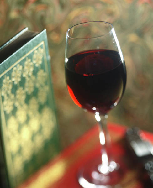 Wall Art - Photograph - Red Wine And A Good Book by Craig Brewer