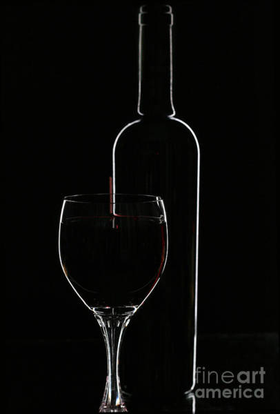 Wall Art - Photograph - Red Wine And Glasse Over Black by Darja Vorontsova