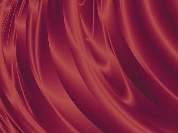 Wall Art - Digital Art - Red Wine Curtain by Rich Leighton