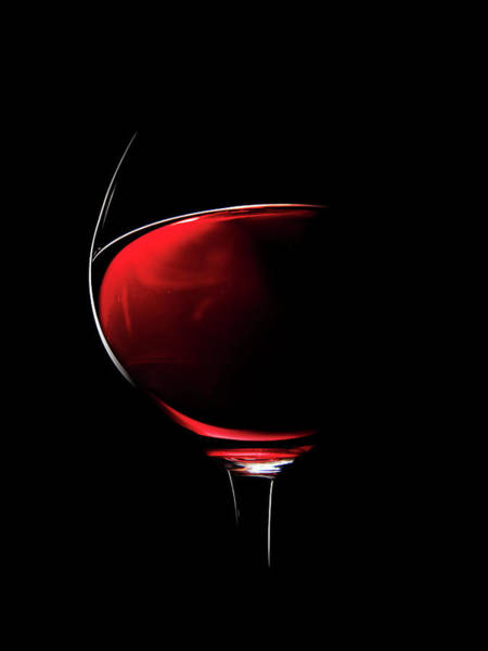 Transparent Wall Art - Photograph - Red Wine by Johan Swanepoel