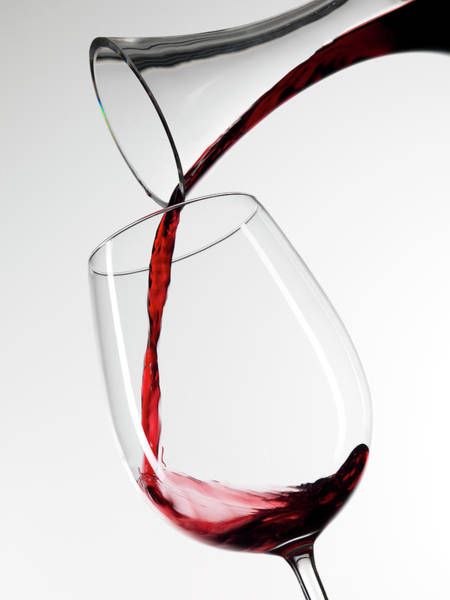 Santa Cruz Island Wall Art - Photograph - Red Wine Pouring Into Glass From by Roger Méndez Fotografo, S.l.