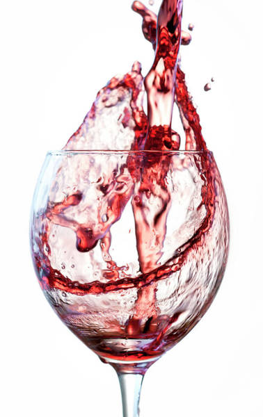 Drinking Glass Photograph - Red Wine Splash by Socjosenspg