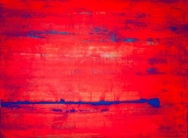 Avondet Wall Art - Digital Art - Red With Blue by Natalie Avondet