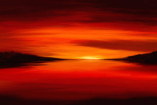 Digital Art - Red World by Tanja Udelhofen