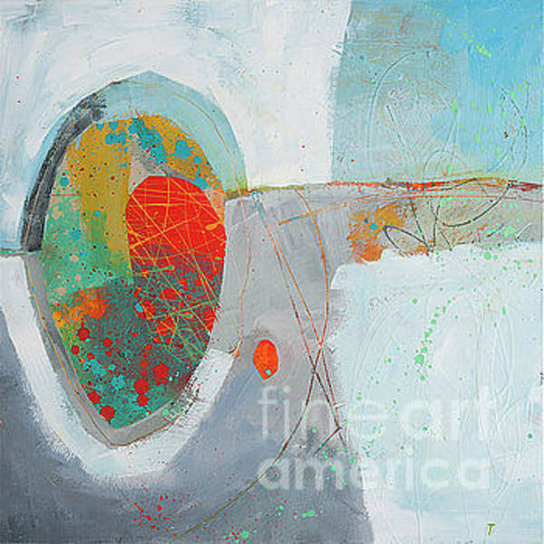 Painting - Red_circle_fun_w/line by Kasey Jones