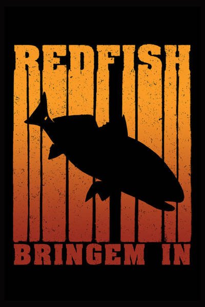 Redfish Digital Art - Redfish Dusk Patrol by Kevin Putman