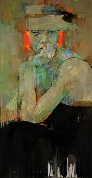 Wall Art - Painting - Redhead by Viktor Sheleg