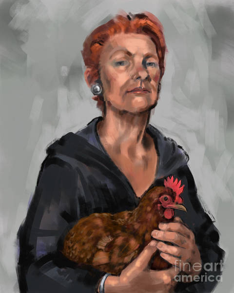 Digital Art - Redheads by Lora Serra