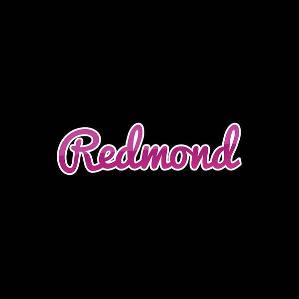 Redmond Wall Art - Digital Art - Redmond #redmond by TintoDesigns