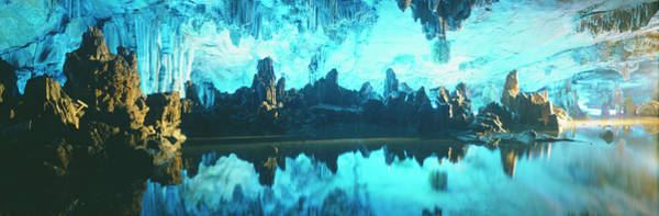 Stalagmite Photograph - Reed Flute Cave In Guilin, Guangxi by Travel Images/uig