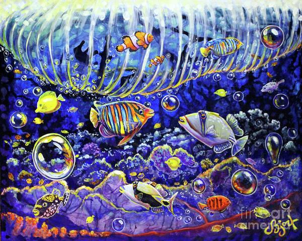 Painting - Reef Break by CBjork Art