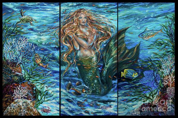 Painting - Reef Rhapsody Mermaid by Linda Olsen