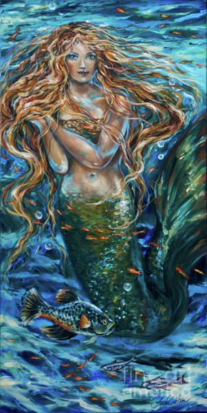 Painting - Reef Rhapsody Siren by Linda Olsen