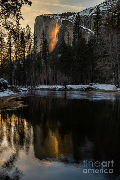 Wall Art - Photograph - Refelction On Fire Fall by Jamie Pham