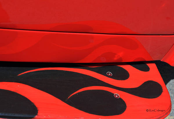 Photograph - Reflections At The Car Show 5 by Kae Cheatham