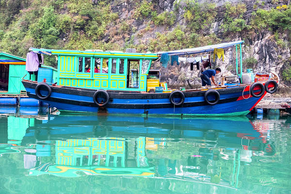 Wall Art - Photograph - Reflections In Halong Bay, Vietnam by Madeline Ellis