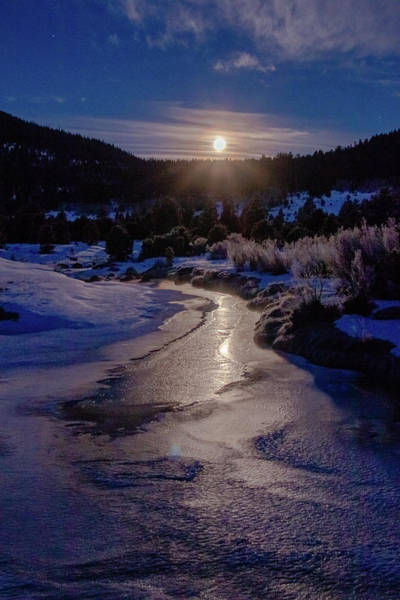 Wall Art - Photograph - Reflected Cold Moon Hope by Mike Herron