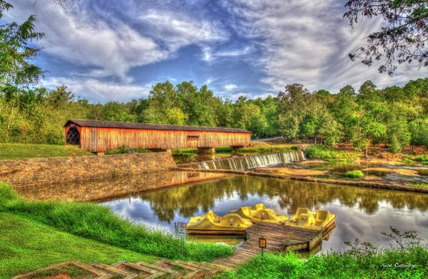 Photograph - Reflected Glory Watson Mill Covered Bridge Madison County, Ga Art by Reid Callaway