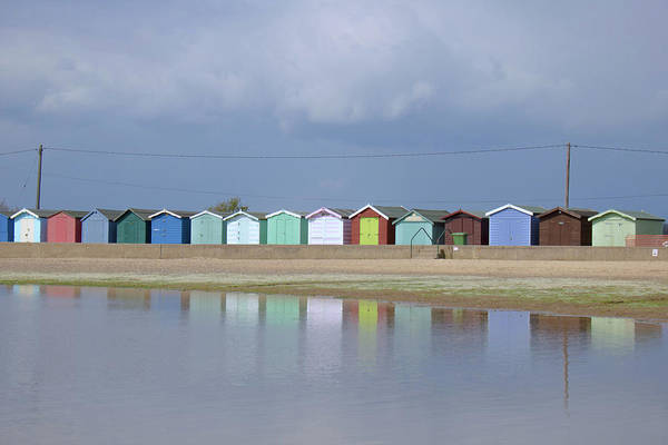 Wall Art - Photograph - Reflecting Beach Huts by Martin Newman