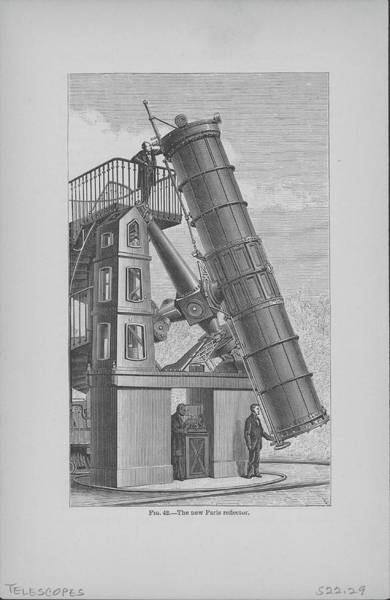 Vertical Digital Art - Reflecting Telescope In Paris by Kean Collection