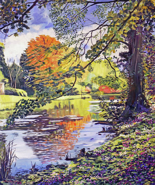 Painting - Reflecting The Autumn Leaves by David Lloyd Glover