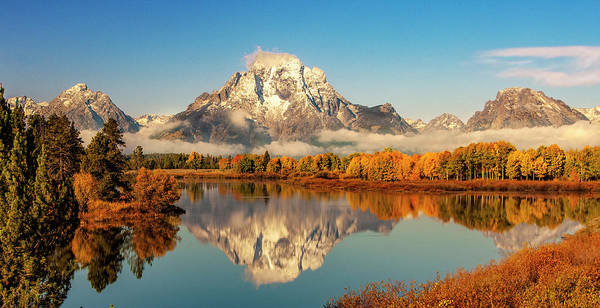 Photograph - Reflection At Oxbow Bend by Gordon Ripley
