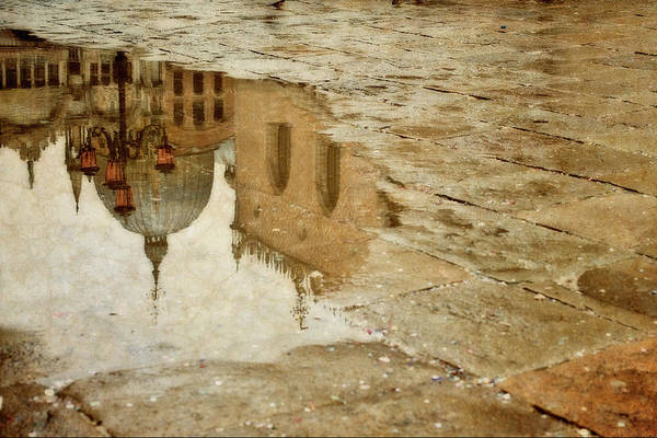 St Mark's Basilica Photograph - Reflection In A Puddle In San Marco by Alexandre Fp