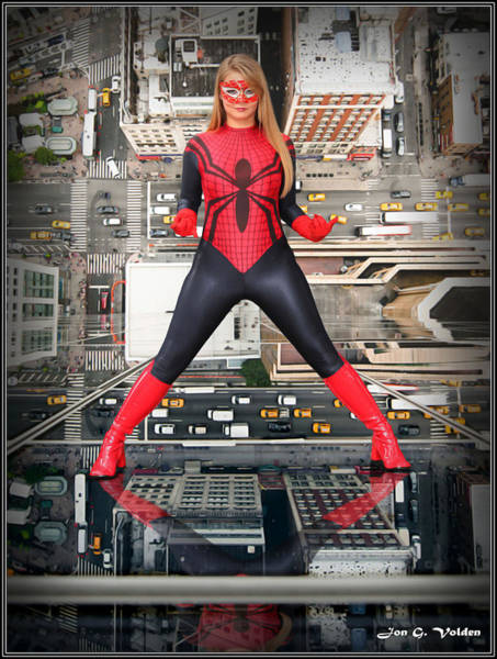 Photograph - Reflection Of A Spider Girl by Jon Volden