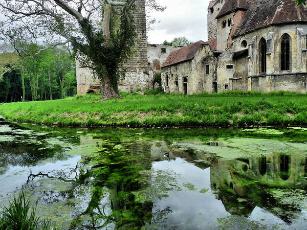 Reflection Of An Ancient Castle Art Print