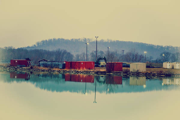 Wall Art - Photograph - Reflection Of Construction Site by Hyuntae Kim