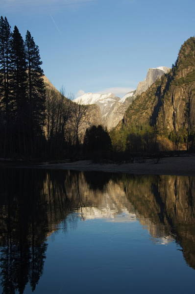 Wall Art - Photograph - Reflection Of Half Dome Peak In The by Christian Kober / Robertharding