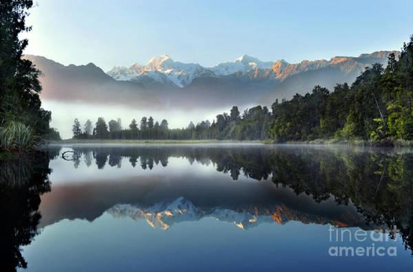 Wall Art - Photograph - Reflection Of Lake Matheson by Supachart