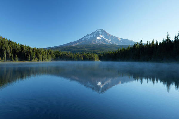 Wall Art - Photograph - Reflection Of Mountain In Lake, Mirror by Panoramic Images
