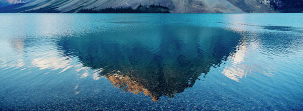 Wall Art - Photograph - Reflection Of Mountain On Water, Banff by Panoramic Images