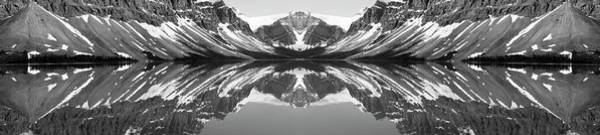 Wall Art - Photograph - Reflection Of Mountains In A Lake, Bow by Panoramic Images