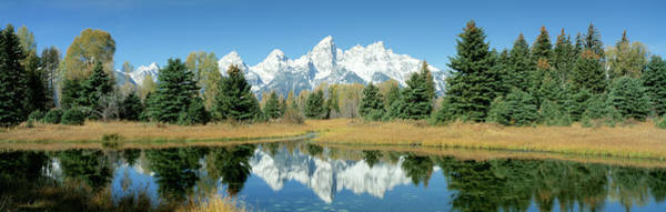 Wall Art - Photograph - Reflection Of Mountains In Water, Grand by Panoramic Images