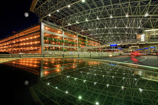 Parking Structure Photograph - Reflection Of Portland International by David Gn Photography