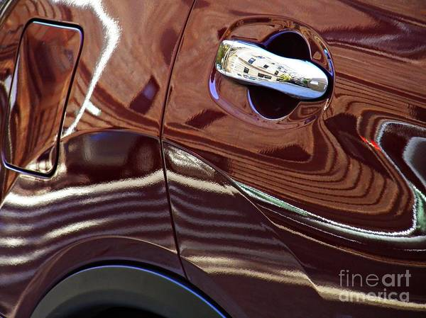Wall Art - Photograph - Reflection On A Parked Car 22  by Sarah Loft
