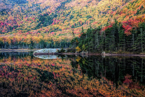 Photograph - Reflection On Beaver Pond Of New Hampshire Fall Colors by Jeff Folger