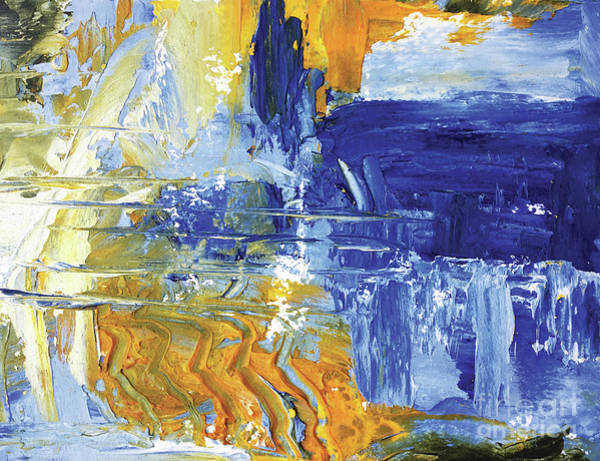 Painting - Reflection On Blue Falls by Christine Chin-Fook