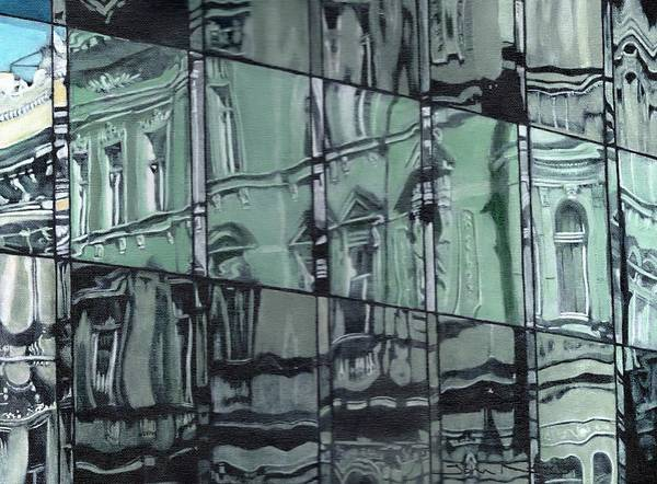 Painting - Reflection On Modern Architecture by John Neeve