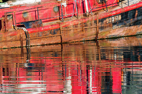 Photograph - Reflection Rust Red by Robert Potts