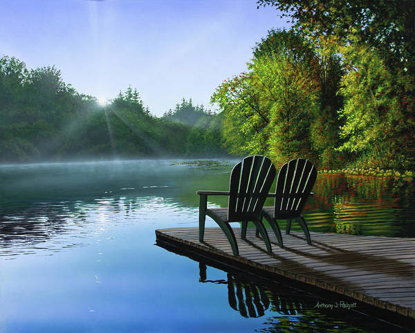 Painting - Reflections by Anthony J Padgett