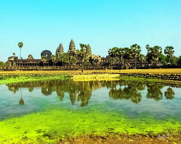 Angkor Wat Wall Art - Photograph - Reflections At Angkor Wat, Cambodia by Madeline Ellis