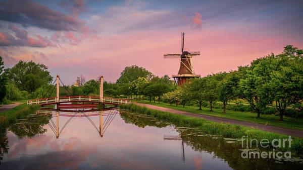 Wall Art - Photograph - Reflections At Windmill Island, Holland, Michigan by Liesl Walsh