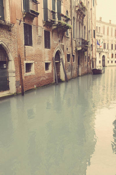 Photograph - Reflections In A Back Street Canal - Venice by Georgia Fowler