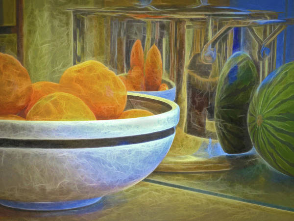 Mixed Media - Reflections In A Pot  by Lynda Lehmann