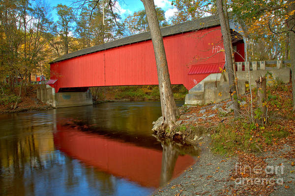 Photograph - Reflections In The New Yok Battenkill River by Adam Jewell